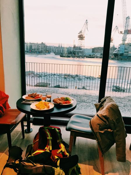 Desayuno en Helsinki, Hotel Clarion