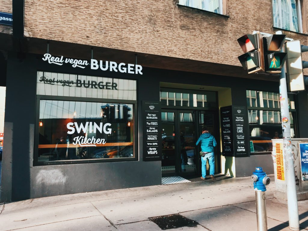 Swing Kitchen: restaurante vegano en Viena: Operngasse 24.