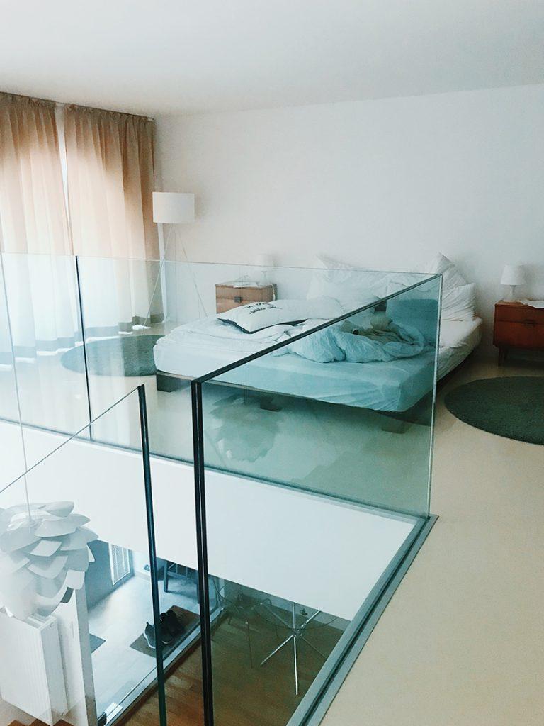 Habitación de nuestro Alojamiento Airbnb en Viena