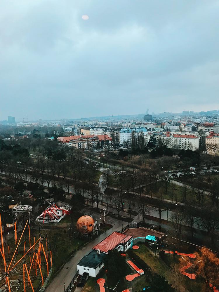 Vistas desde la Noria hacia el centro de la ciudad.