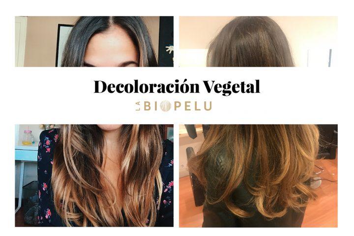 Decoloración / Coloración vegetal en una peluquería vegana / vegetariana de Barcelona. Mechas Balayage y corte con cosméticos veganos.