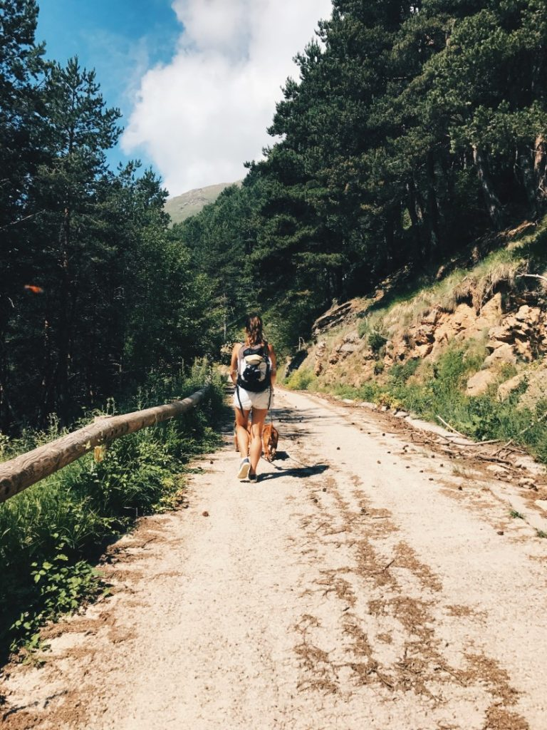 La ruta desde Espuy hasta Filià es suave, aunque larga.