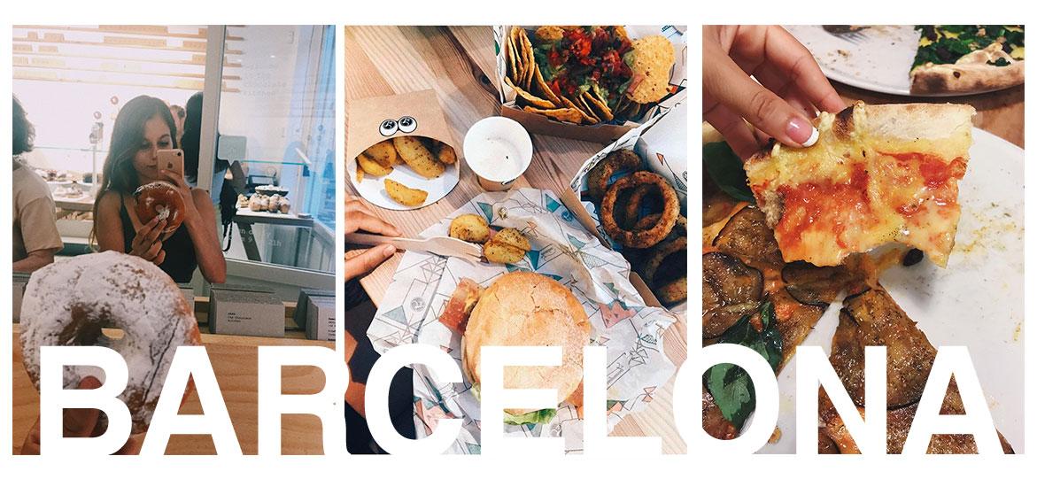 Restaurantes veganos en Barcelona: pizza, donuts, hamburguesa.