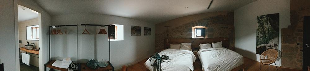 Panorámica habitación La Bauma, Casa Albets.