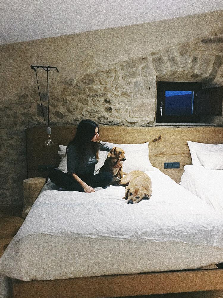Los perros son bienvenidos en el Hotel Vegano Casa Albets.