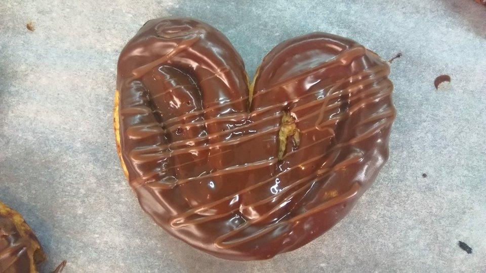 """Palmera de chocolate vegana de """"Los manchegos"""", Valencia."""