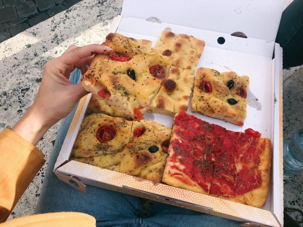 Pizzas veganas de 'Pizzarius' en Roma