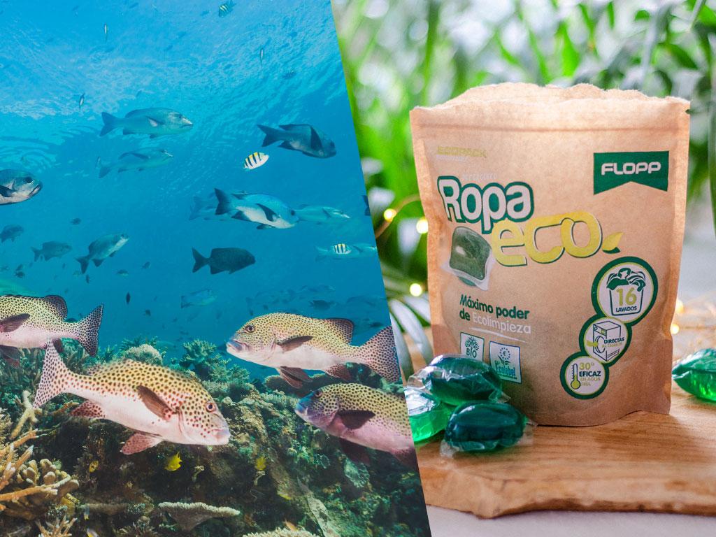 Un detergente para la ropa ecológico y vegano.