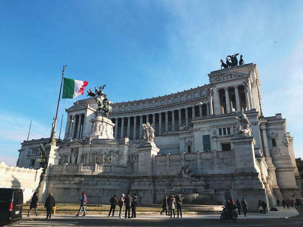 Pastel de bodas, monumento a Vittorio Emmanuele II