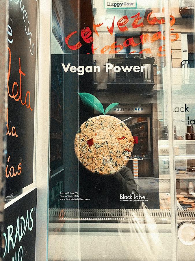 Black Label Bilbao, opciones veganas.