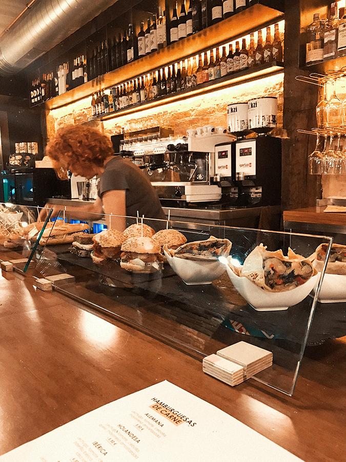 Opciones veganas de La Muga, bar de Tapas en Bilbao.