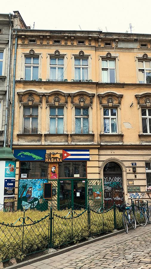 Por el Barrio Judio de Cracovia.