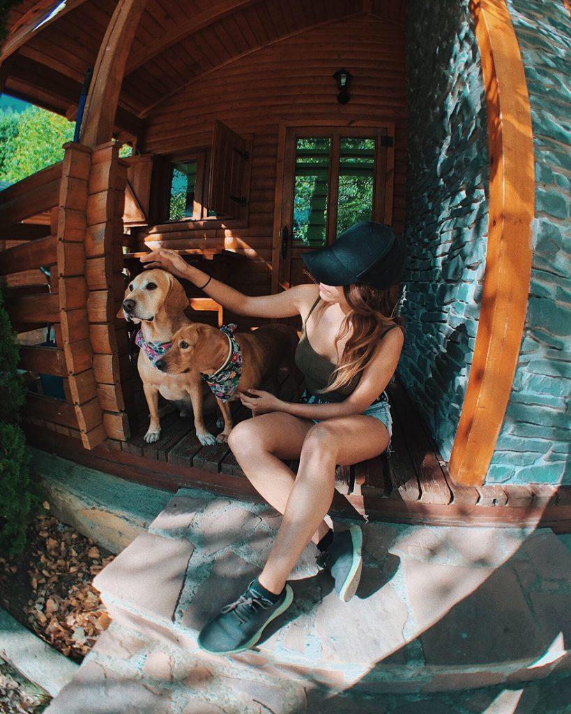 Bungallows con perros en el Camping Aneto de Benasque