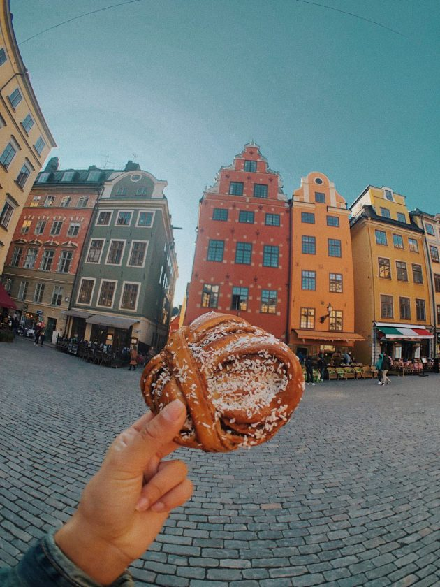 Plaza de Estocolmo. Kanelbulle vegano.
