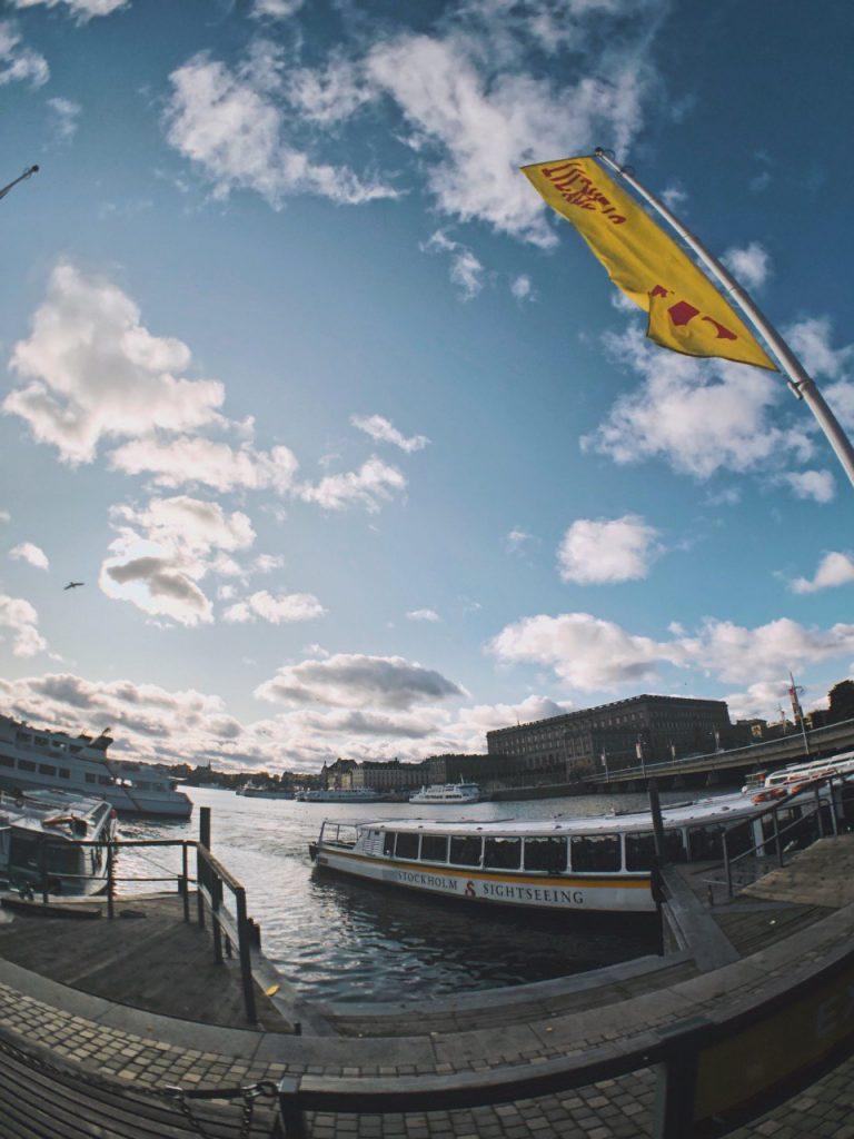 Salida de barcos turísticos. Estocolmo.