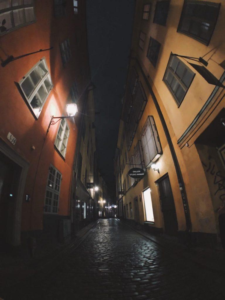 Gamla Stan de noche, Estocolmo