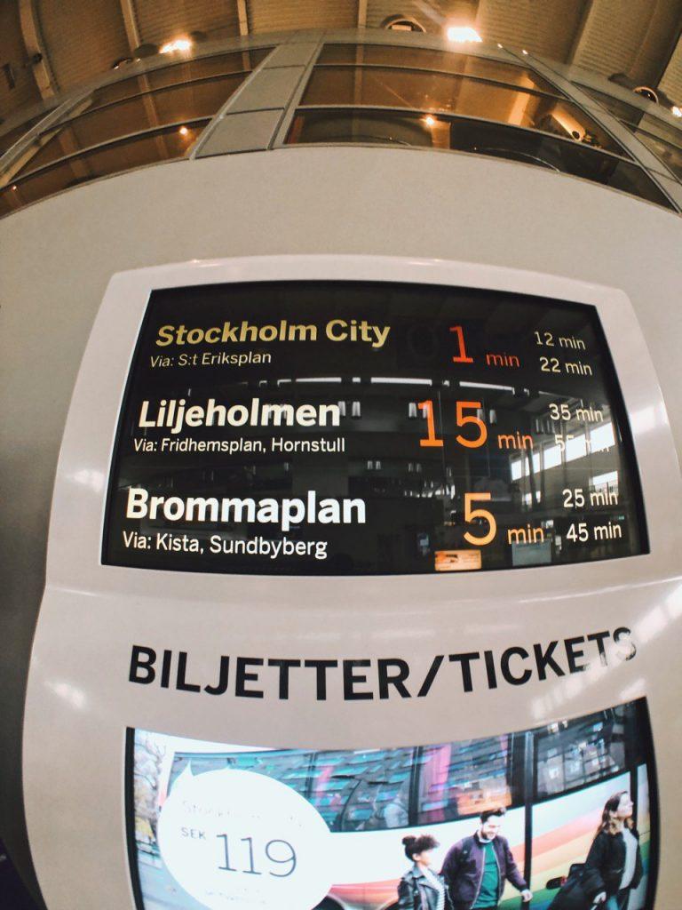 Tickets bus aeropuerto Arlanda a Estocolmo