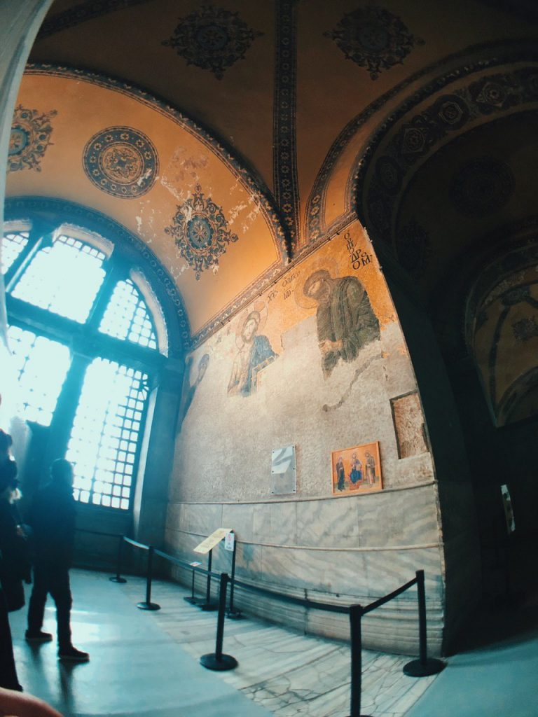 Mosaico Jesucristo en Hagia Sofía.