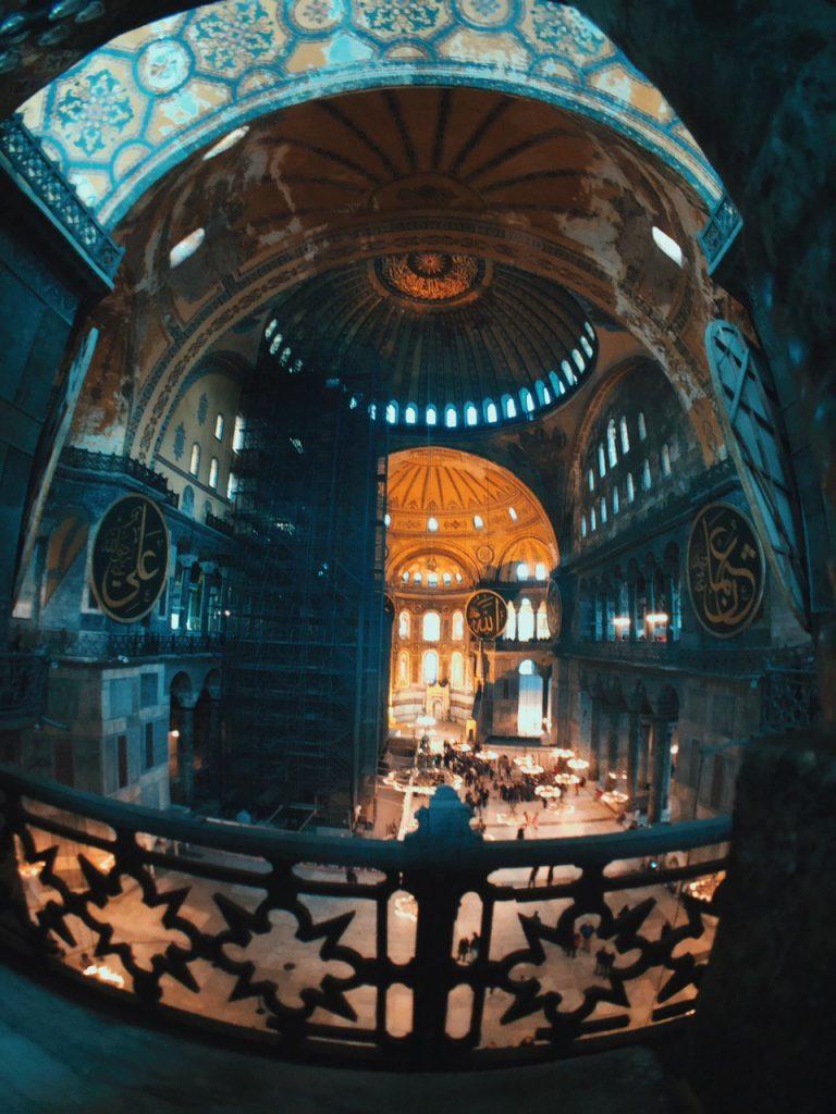 Planta alta de Hagia Sofía. Qué ver en Estambul.