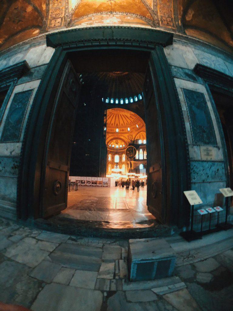 Hagia Sofía, interior. Qué ver en Estambul.