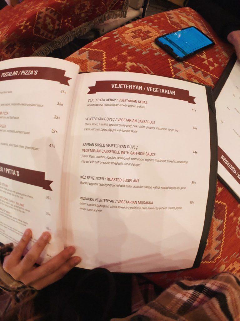 Opciones vegetarianas en Estambul. Guia de viajes.