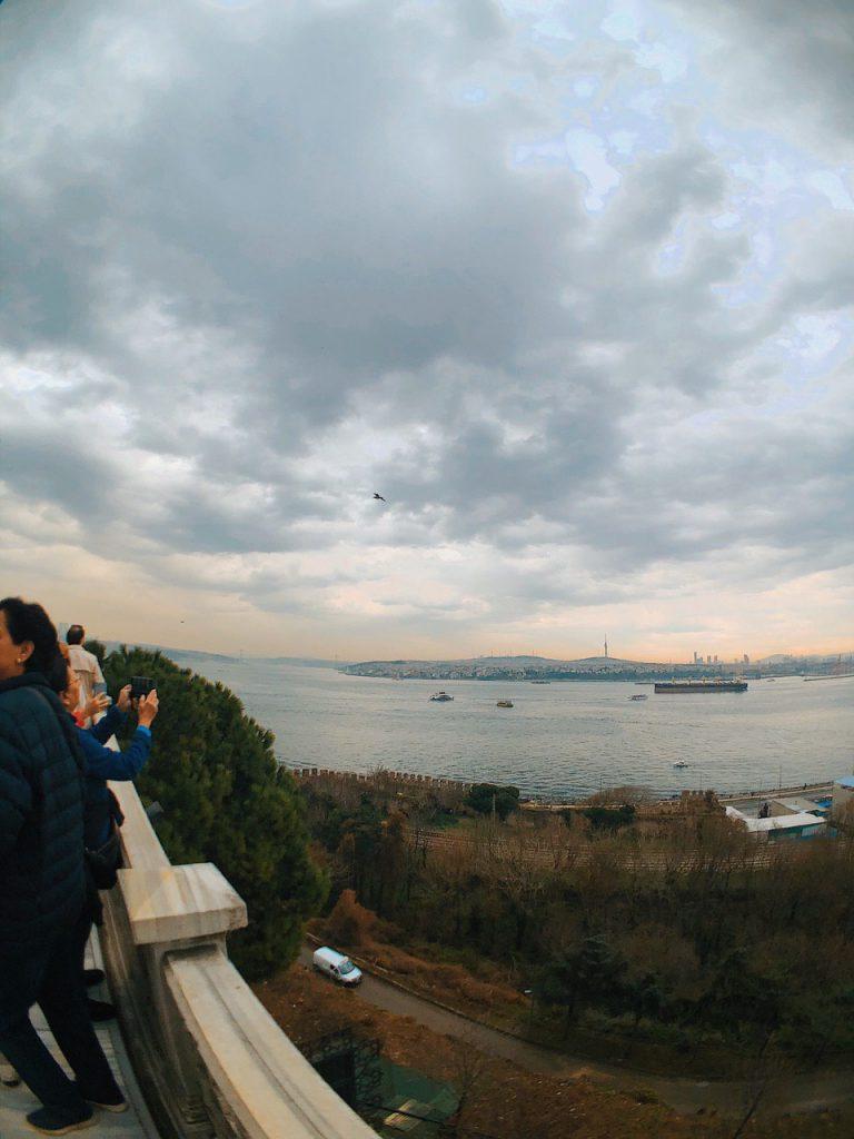 Panorámica desde Topkapi Palace a la parte Asiática de Estambul. Guía de viaje.