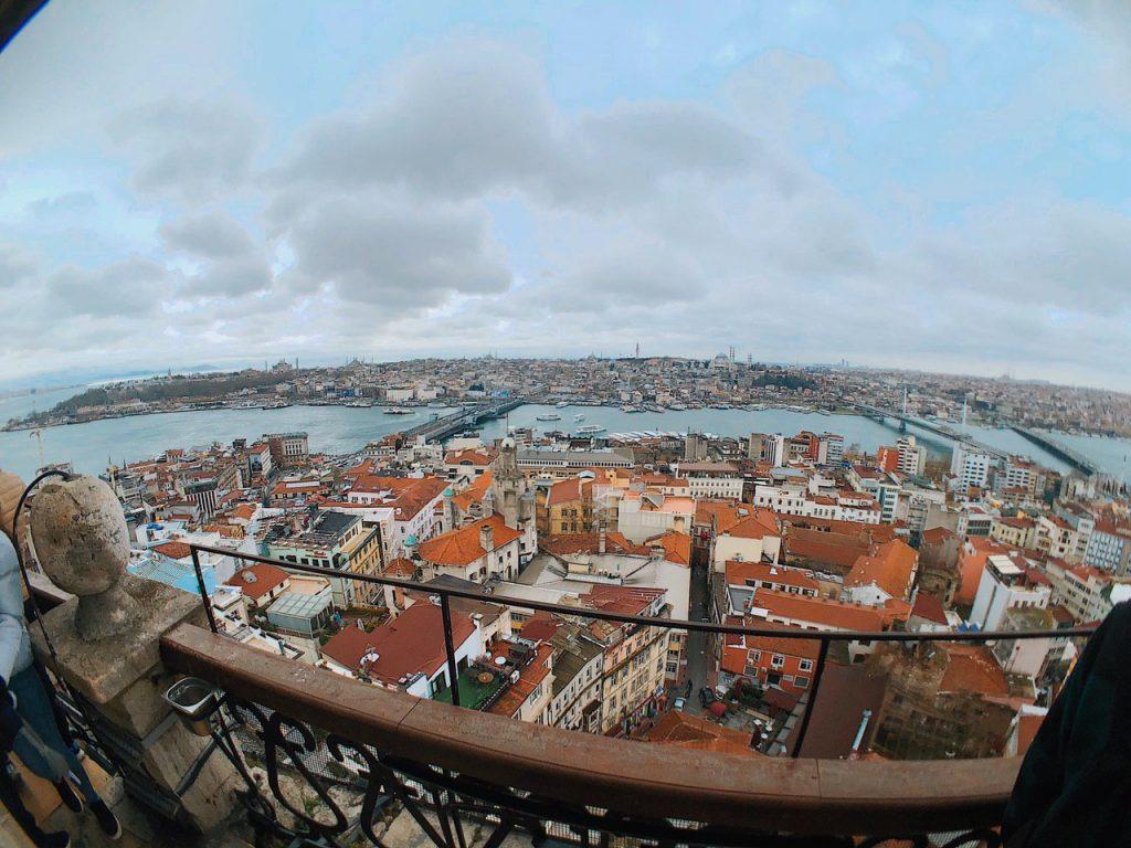 Panorámica de Estambul desde la torre Gálata. Blog de viajes, guía Turquía.